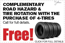 Complementary Road Hazard & Tire Rotation