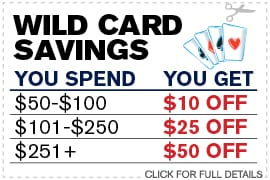 Wild Card Savings
