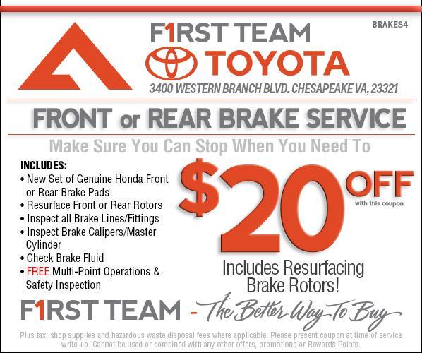 Toyota Care Extended Warranty: Service Specials Toyota Chesapeake VA