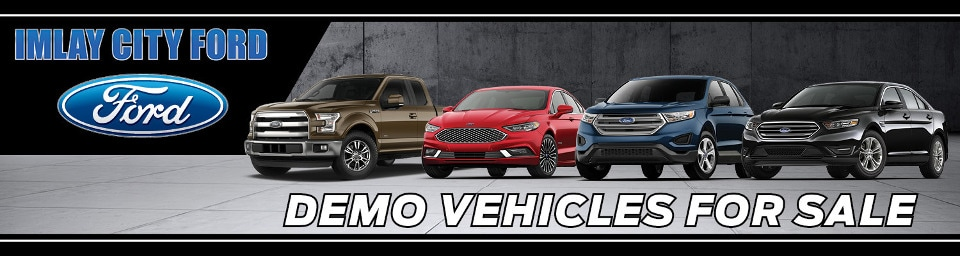 Demo vehicles for sale promotional banner
