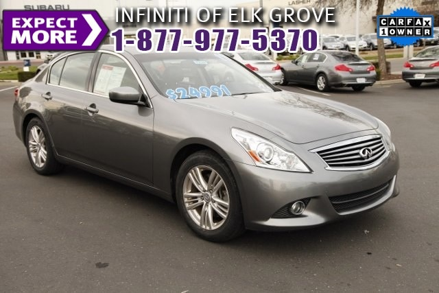 2011 Infiniti G37 ONE OWNER CLEAN CARFAX LEATHER and MOONROOF Infiniti Certified 17 Aluminum A