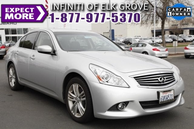 2012 Infiniti G37 ONE OWNER CLEAN CARFAX Graphite ABS brakes AMFM Single Disc CD Auto-dimming