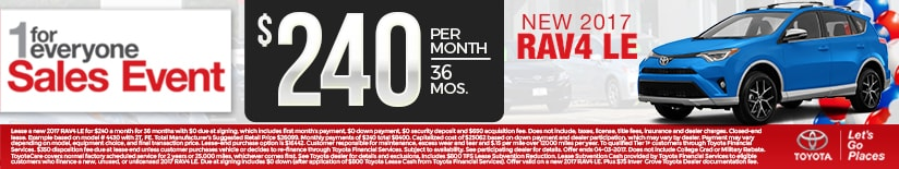 New Toyota RAV4 Lease Special