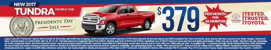 New Toyota Tundra Lease Special
