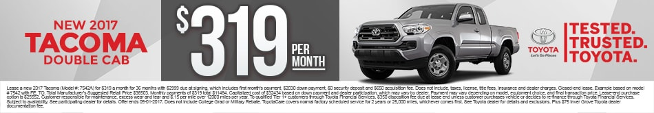 New Toyota Tacoma Lease Special