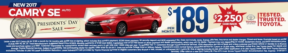 New Toyota Camry Lease Special