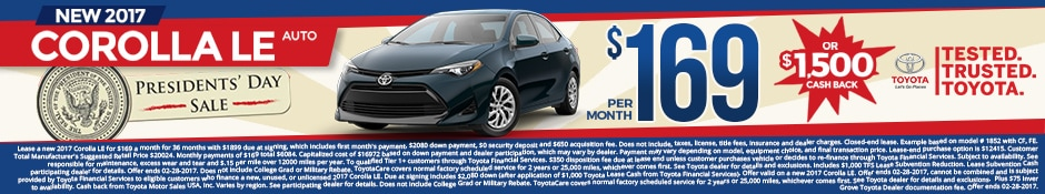 New Toyota Corolla Lease Special