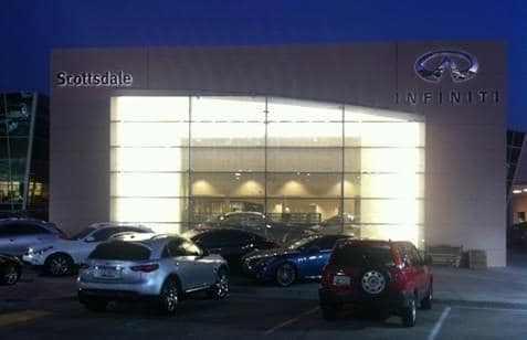 Infiniti of Scottsdale Dealership Remodel Front Night
