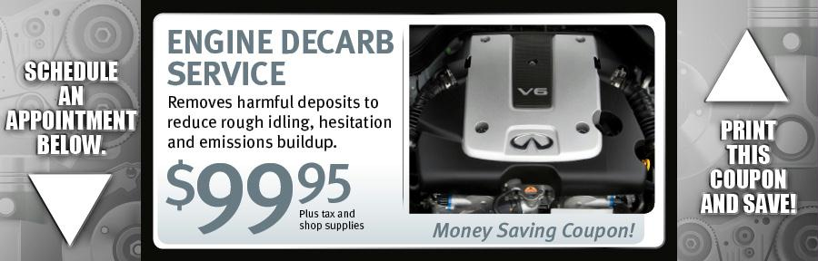 Engine  Decarb Service