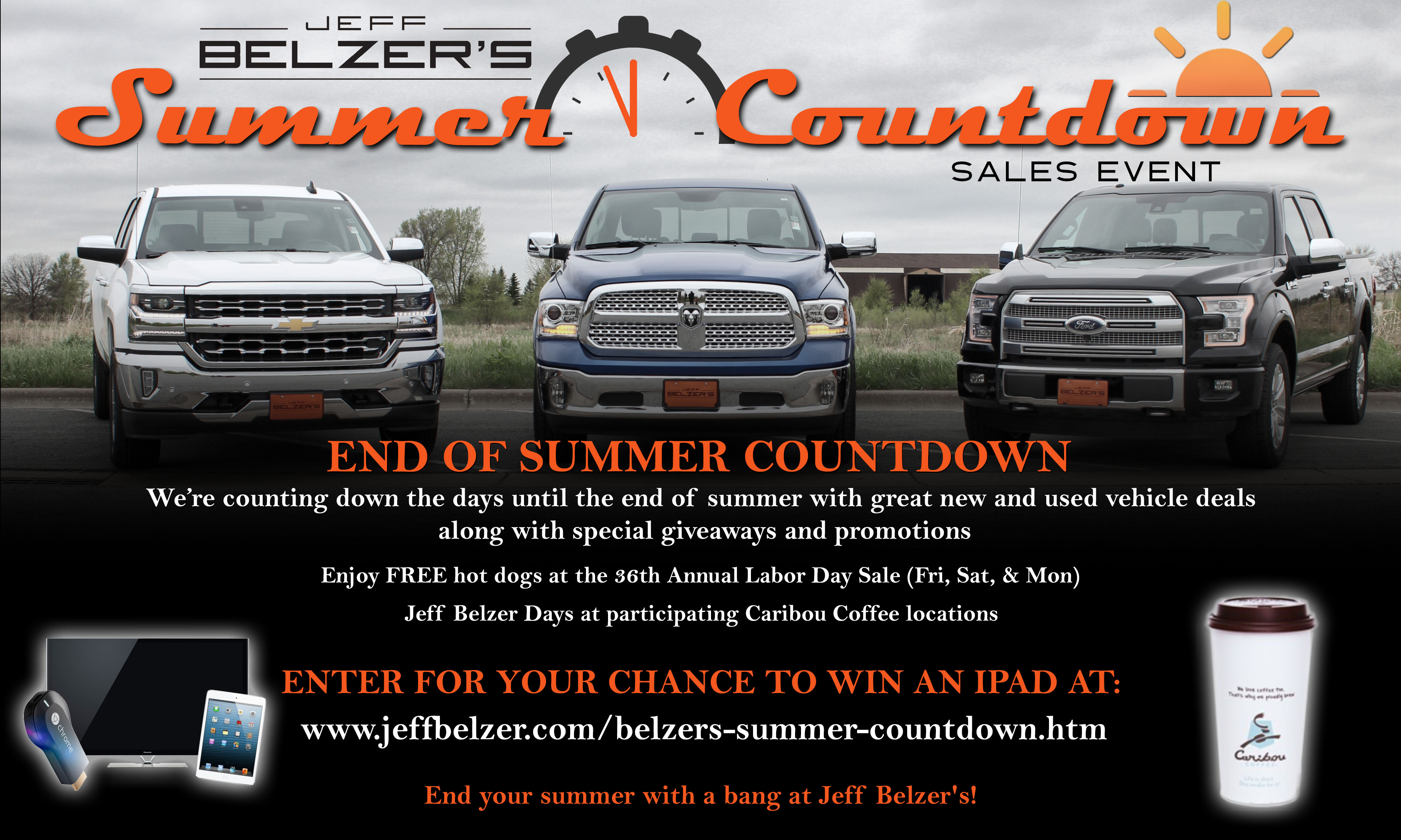 Used car giveaways