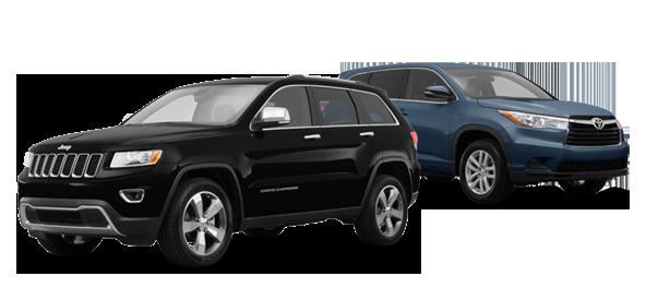 2015 Jeep Grand Cherokee vs Toyota Highlander