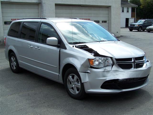 Minivan Collision