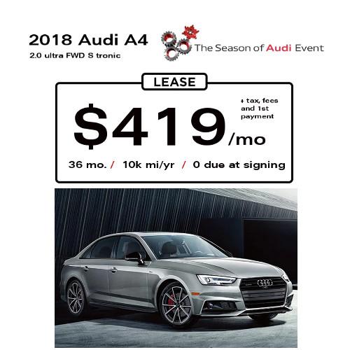 2018 audi lease deals. plain audi 2018 audi a4 lease special 419 with audi lease deals x