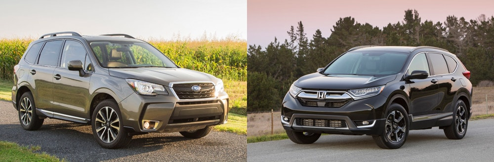 2018 subaru forester vs 2018 honda cr v comparison for Honda crv vs subaru forester