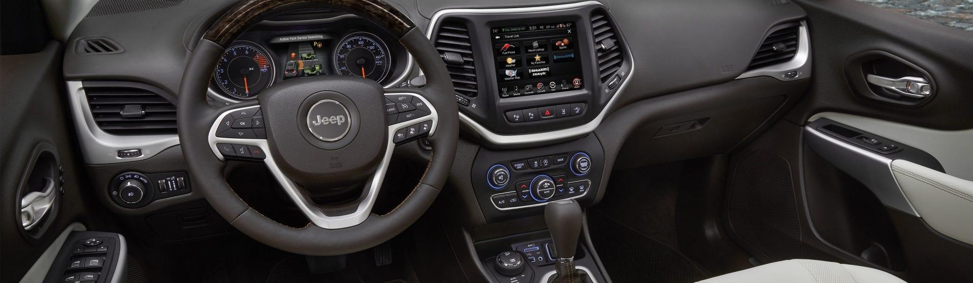 2017 Jeep Cherokee interior