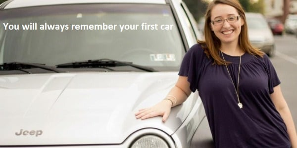 Teenage Girl With First Car, Lancaster Auto Sales Photo - Keim Pre-Owned