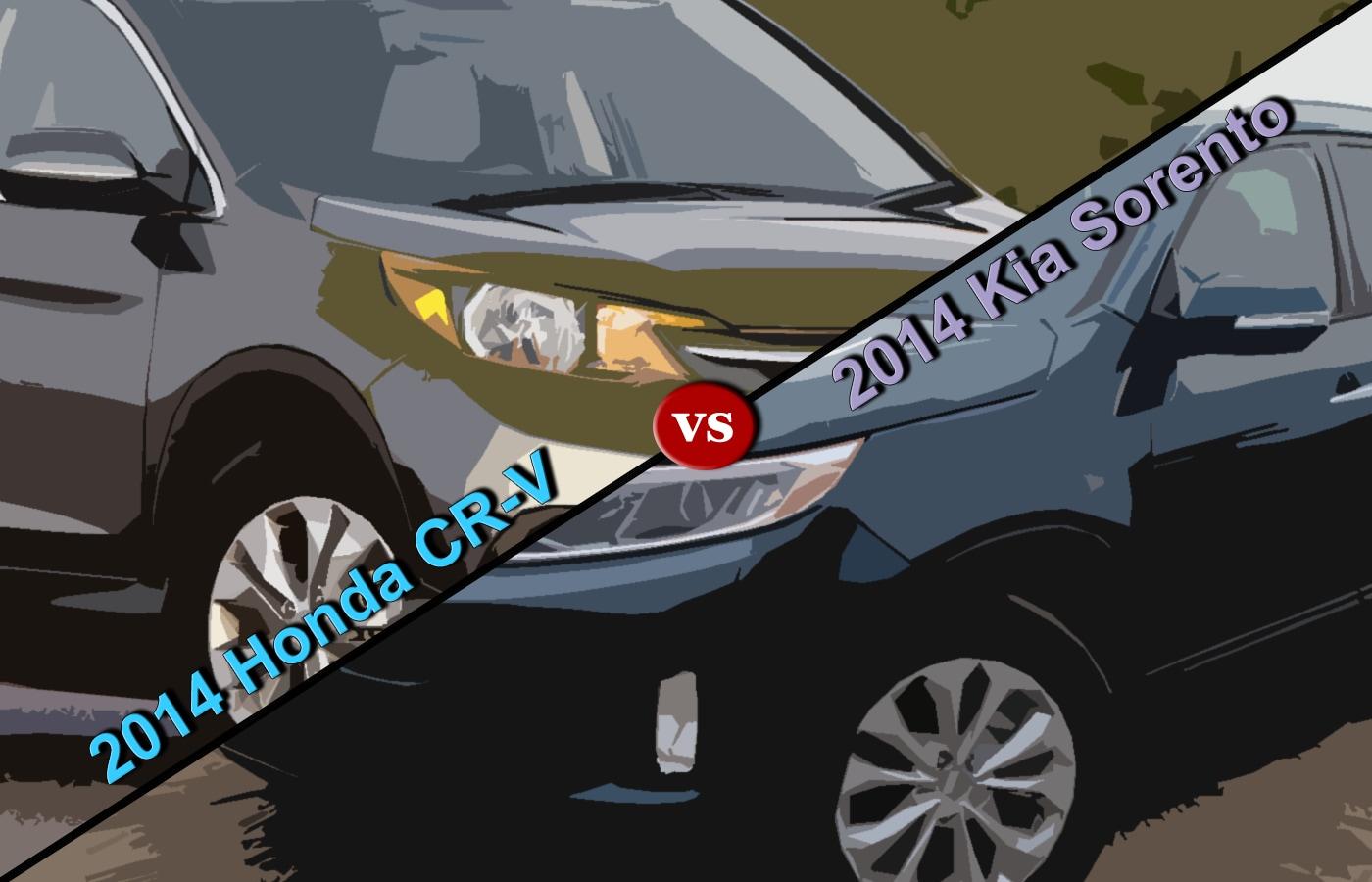 crossover comparison 2014 honda cr v vs 2014 kia sorento