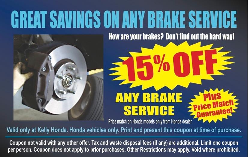 Kelly honda new honda dealership in lynn ma 01905 for Honda brake service coupons