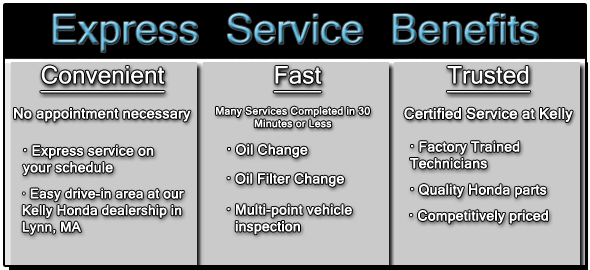 Express honda service quick oil filter changes and much for Honda express service