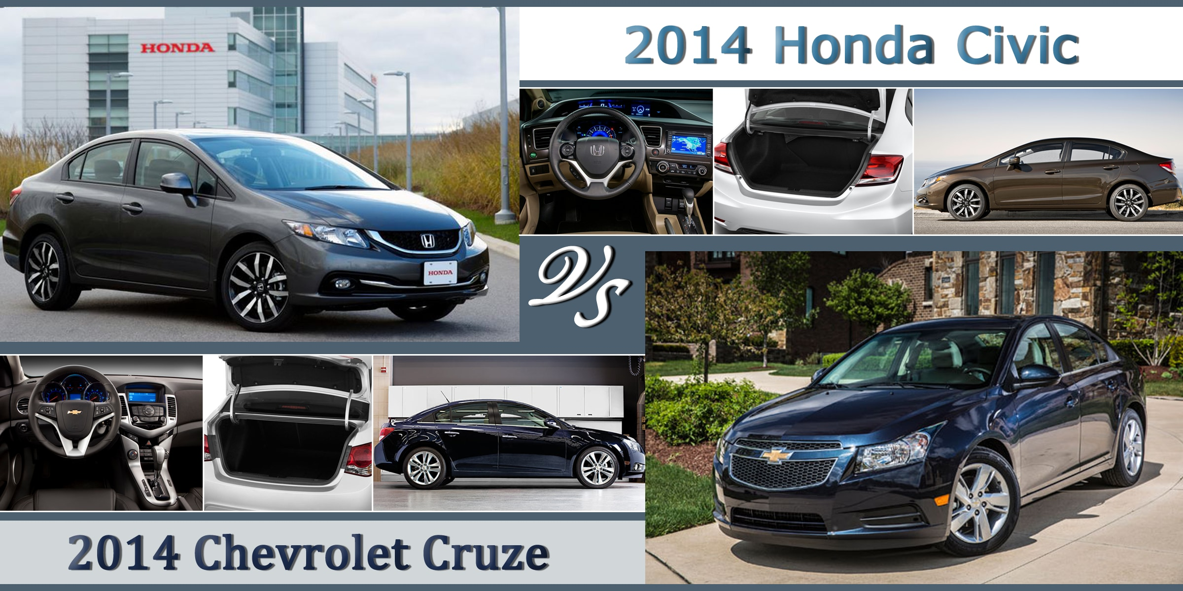 compare the 2014 honda civic against the 2014 chevy cruze. Black Bedroom Furniture Sets. Home Design Ideas