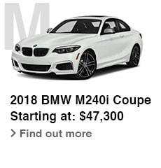 2018 BMW M240i Coupe, Starting at: $47,300, Find out more