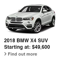 2018 BMW X4 SUV, Starting at: $49,600, Find out more