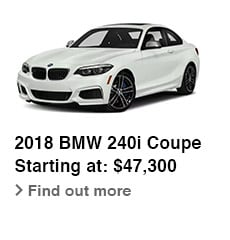 2018 BMW 240i Coupe, Starting at: $47,300, Find out more