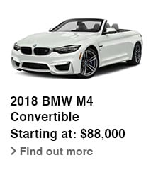 2018 BMW M4 Convertible, Starting at: $88,000, Find out more