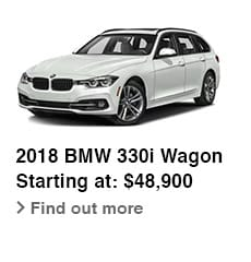 2018 BMW 330i Wagon, Starting at: $48,900, Find out more