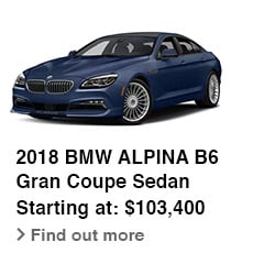 2018 BMW ALPINA B6 Gran Coupe Sedan, Starting at: $103,400, Find out more