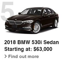 2018 BMW 530i Sedan, Starting at: $63,000, Find out more