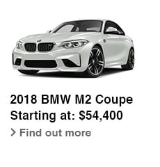 2018 BMW M2 Coupe, Starting at: $54,400, Find out more