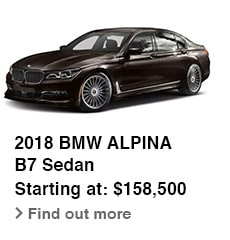2018 BMW ALPINA, B7 Sedan, Starting at: $158,500, Find out more