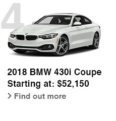 2018 BMW 430i Coupe, Starting at: $52,150, Find out more