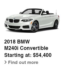 2018 BMW M240i Convertible, Starting at: $54,400, Find out more