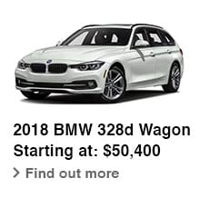 2018 BMW 328d Wagon, Starting at: $50,400, Find out more