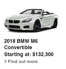 2018 BMW M6 Convertible Starting at: $132,300, Find out more