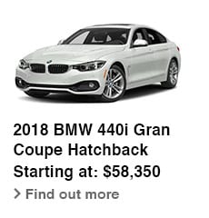 2018 BMW 40i Gran Coupe Hatchback, Starting at: $58,350, Find out more