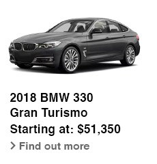 2018 BMW 330 Gran Turismo, Starting at: $51,350, Find out more