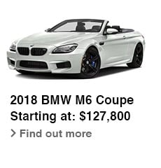 2018 BMW M6 Coupe, Starting at: $127,800, Find out more