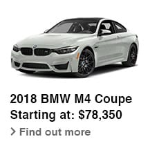 2018 BMW M4 Coupe, Starting at: $78,350, Find out more