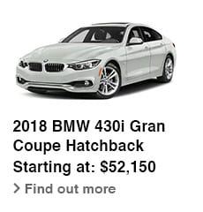 2018 BMW 430i Gran Coupe Hatchback, Starting at: $52,150, Find out more