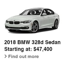 2018 BMW 328d Sedan, Starting at: $47,400, Find out more