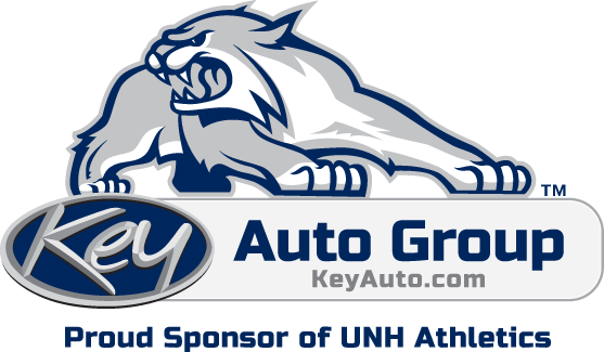 A photo of the UNH Wildcat and Key Auto Group sponsorship of UNH athletics