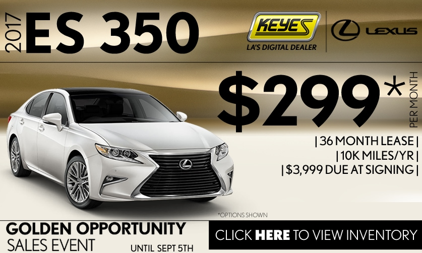 New 2017 Lexus ES 350 Lease Special Serving Los Angeles, Van Nuys, and Beverly Hill, CA