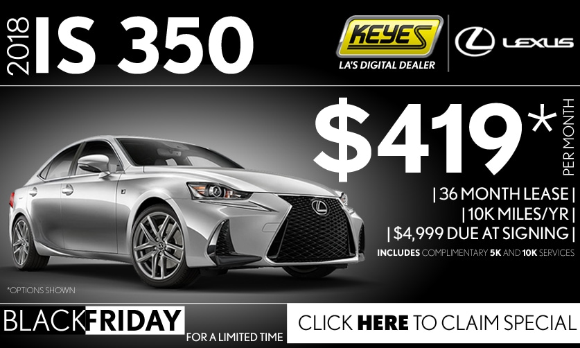 New 2018 Lexus IS 350 Sport Sedan Lease Special Serving Los Angeles, Van Nuys, and Beverly Hill, CA