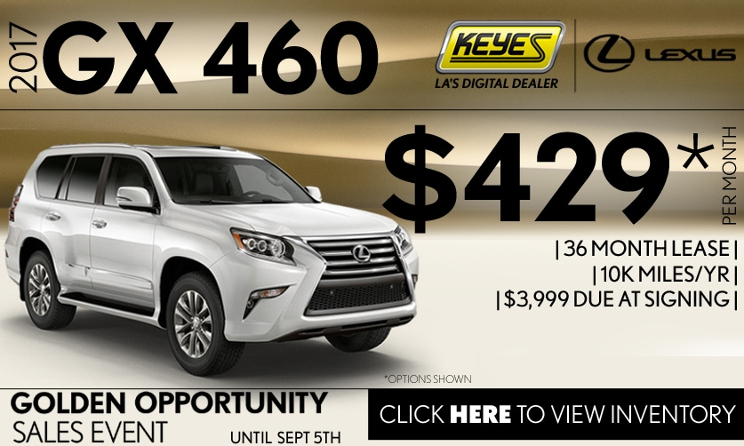 New 2017 Lexus GX 460 Premium Lease Special Serving Los Angeles, Van Nuys, and Beverly Hill, CA