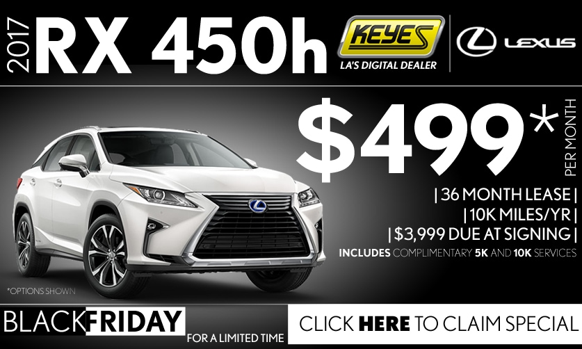 New 2017 Lexus RX 450h Luxury Hybrid SUV Lease Special Serving Los Angeles,Van Nuys,and Beverly Hill, CA