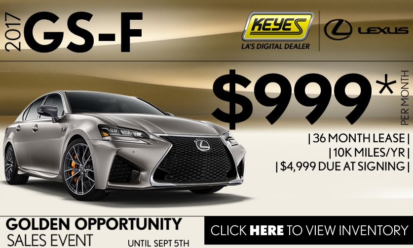 New 2017 Lexus GS-F Premium High Performance Sports Sedan Lease Special Serving Los Angeles,Van Nuys,and Beverly Hill, CA