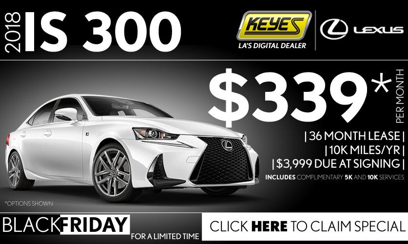 New 2018 Lexus IS 300 Sport Sedan Lease Special Serving Los Angeles, Van Nuys, and Beverly Hill, CA